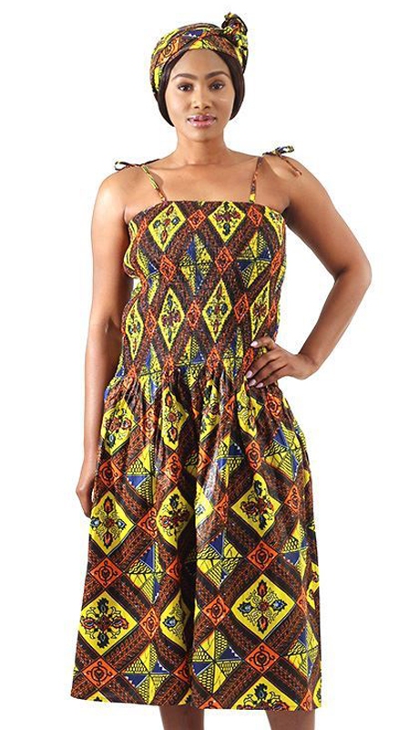 Heritage C-WH474-MP ( 1pc African Royalty Sleeveless Print Dress )