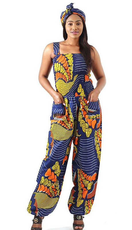 Heritage C-WH472-MU ( 1pc African Print Jump Suit )