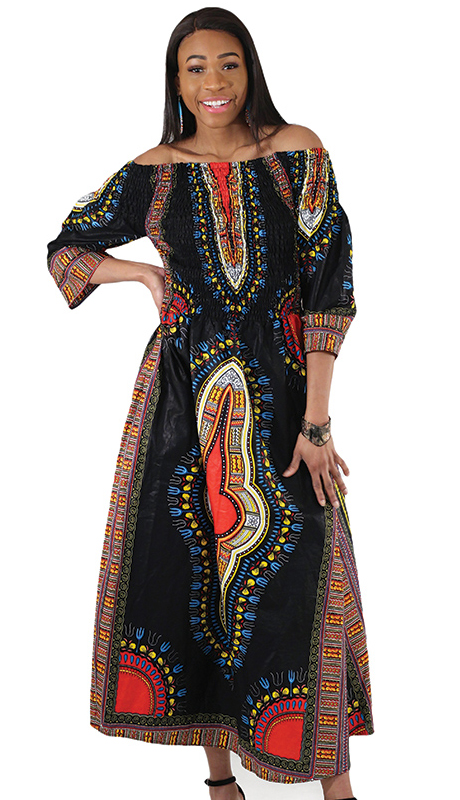 Heritage C-W123-BP ( 1pc Traditional Print Queen Dress )