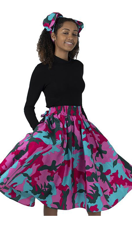 Heritage C-WH289-FP ( 1pc Camo Elastic Skirt With Head Wrap )