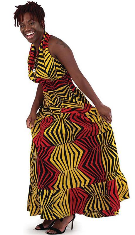 Heritage C-WK047-RY ( 1pc Camo Sleeveless Zebra Print Dress )