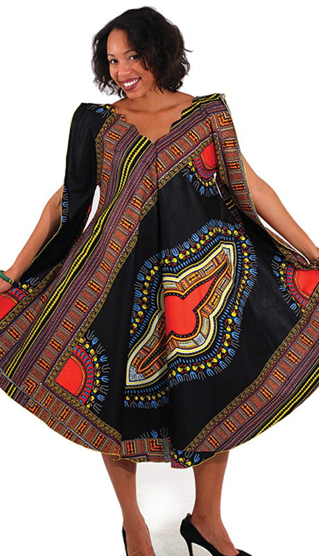 Heritage C-WF912-BLK ( 1pc Traditional Print Umbrella Dress )