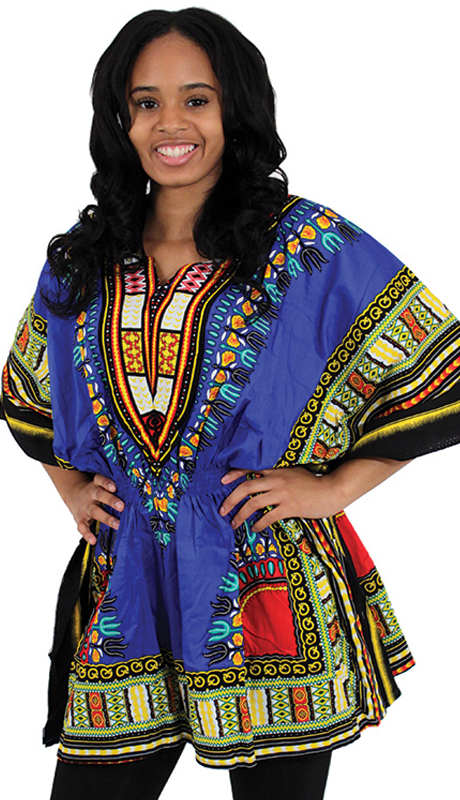 Heritage C-WS851-BLU ( 1pc Traditional Dashiki With Elastic Waist And Authentic Design )