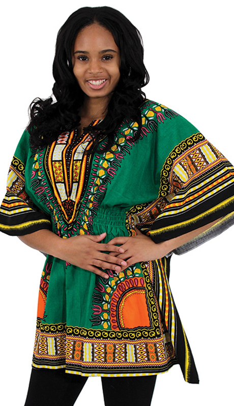 Heritage C-WS851-GRN ( 1pc Traditional Dashiki With Elastic Waist And Authentic Design )