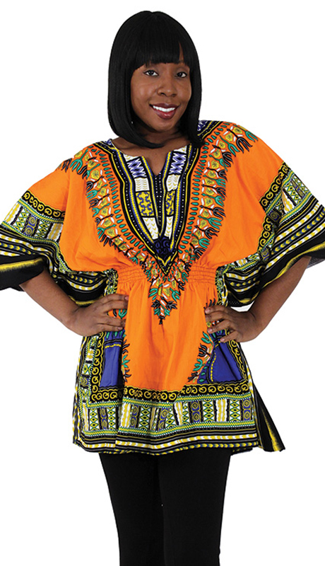 Heritage C-WS851-OR ( 1pc Traditional Dashiki With Elastic Waist And Authentic Design )
