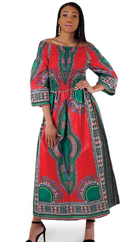 Heritage C-W123 ( 1pc Traditional Print Queen Dress )