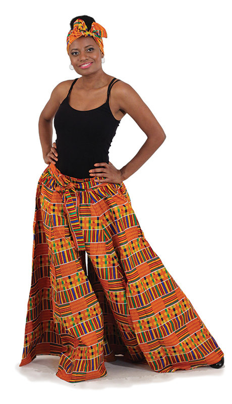 Heritage C-WK075 ( 1pc Kente Palazzo Pants With Head Wrap )