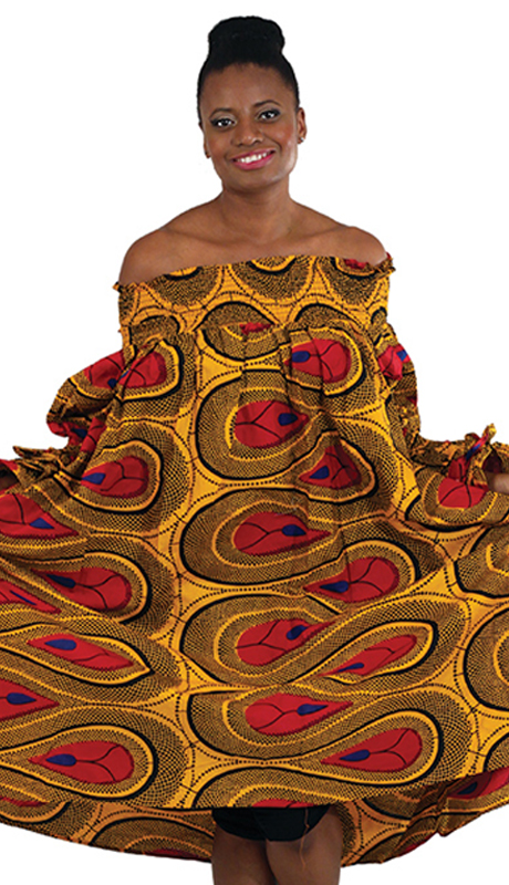 Heritage C-WK074 ( 1pc African Print Smocking Dress )
