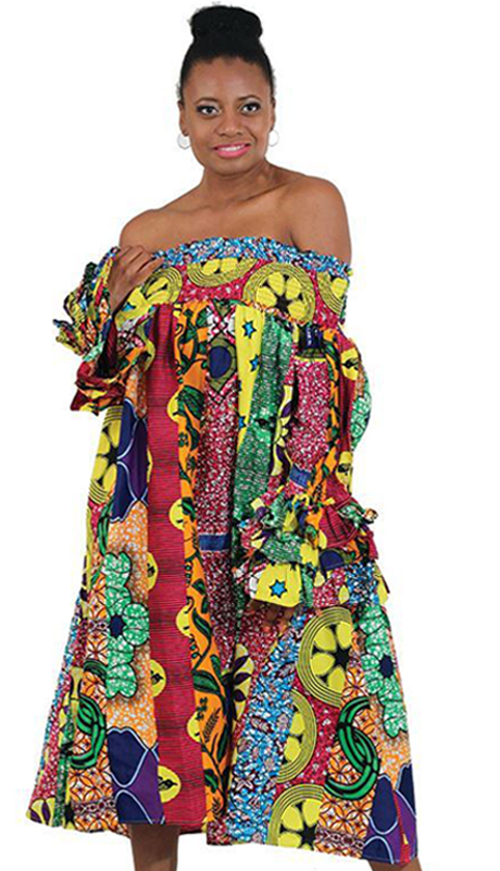 Heritage C-WK073 ( 1pc African Print Smocking Dress )