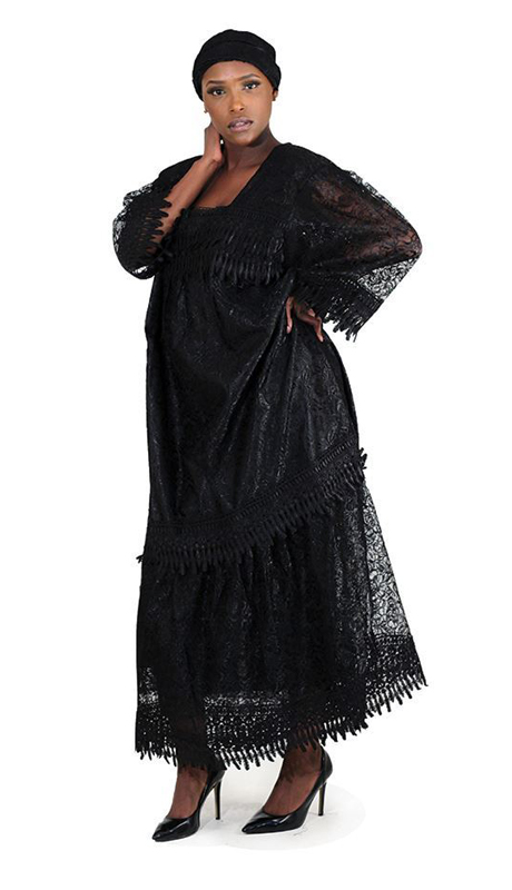 Heritage C-WH373 ( 2pc Lace Skirt Set With Head Wrap )