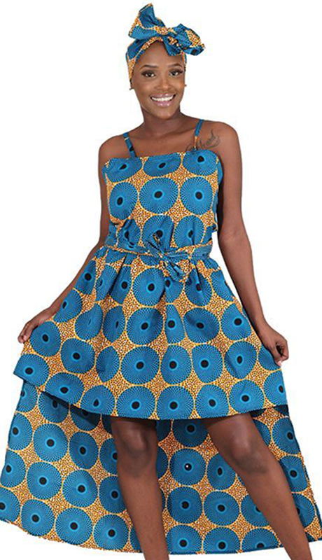 Heritage C-WK085 ( 1pc Circle Print Hilo Dress )