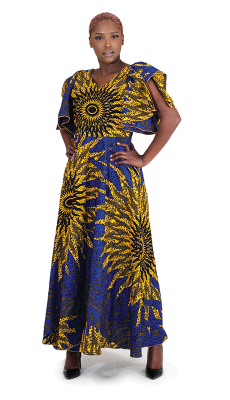 Heritage C-W113 ( 1pc Blue Sun Ball Gown )