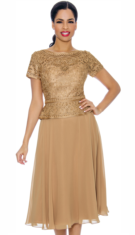 Annabelle 8698-GO ( 1pc Special Occasion Dress With Intricate Design Bodice )