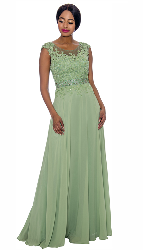 Annabelle 8697-SA ( 1pc Floor Length Mother Of The Bride Gown With Elaborate Bodice )