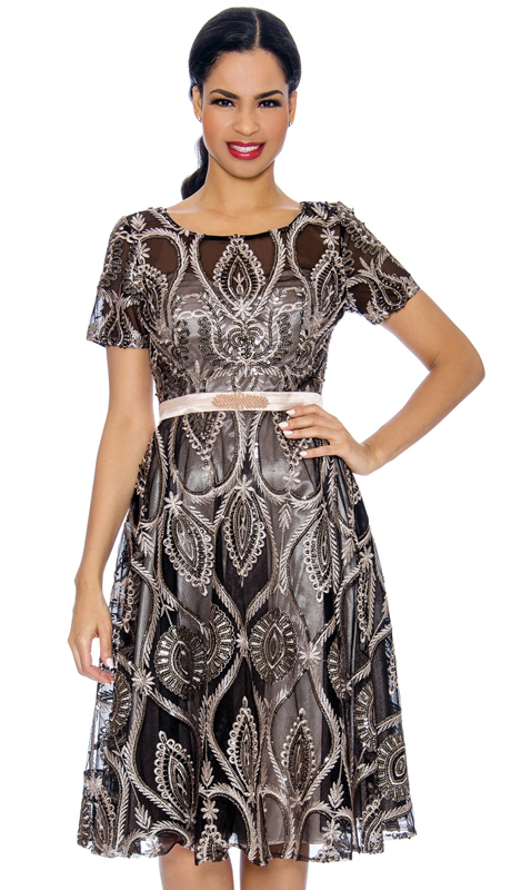 Annabelle 8688-CB ( 1pc Special Occasion Dress With Intricate Print Design )