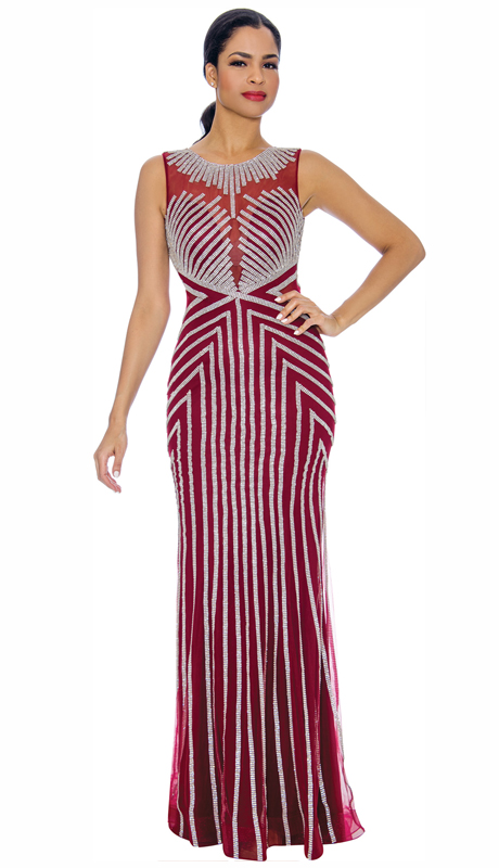 Annabelle 8687-WI ( 1pc Floor Length Gown With Print Design )