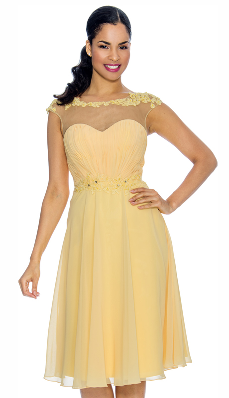 Annabelle 8644-YE ( 1pc Special Occasion Dress With Embellished Bodice )