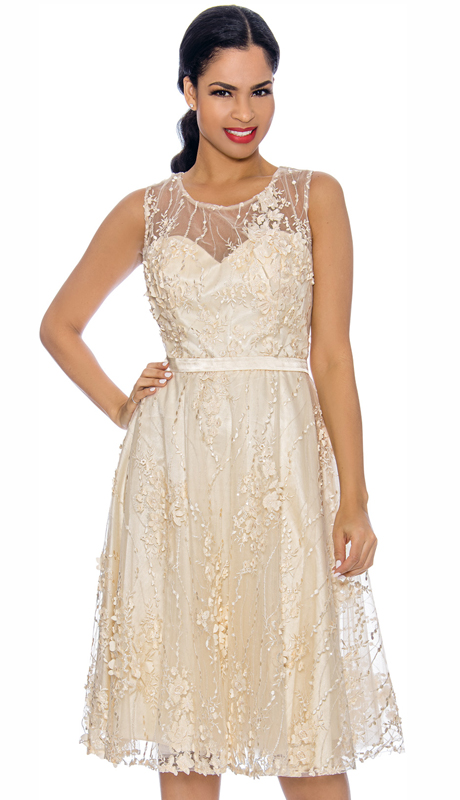 Annabelle 8631-IV ( 1pc Sleeveless Lace & Tulle Design Special Occasion Dress )