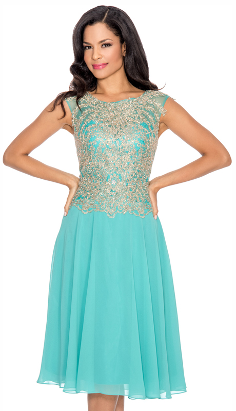 Annabelle 8581-AQ ( 1pc Special Occasion Dress With Intricate Design Bodice )