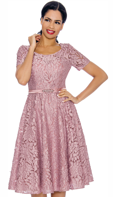Annabelle 8702-RO ( 1pc Special Occasion Dress With Intricate Design )