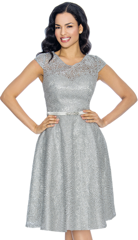 Annabelle 8669-MS ( 1pc Short Sleeve Lace And Tulle Design Special Occasion Dress )