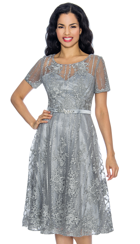 Annabelle 8654-PL ( 1pc Short Sleeve Lace & Tulle Design Special Occasion Dress )