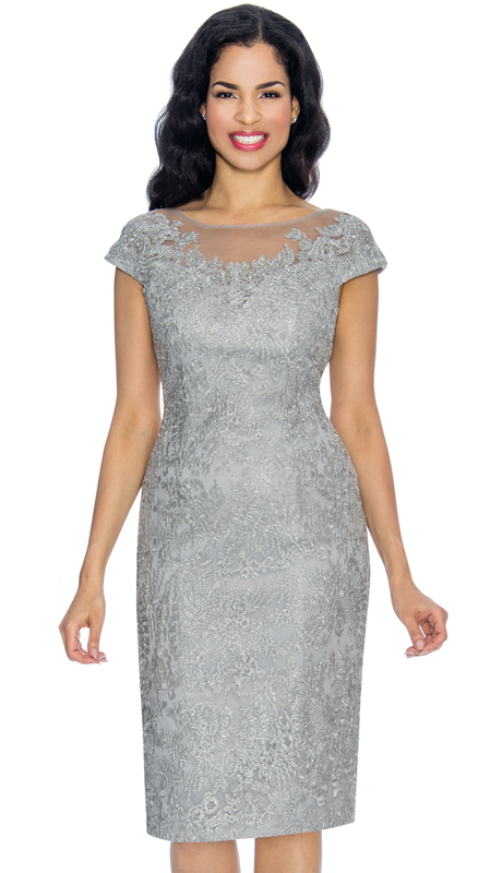 Annabelle 8651-SI ( 1pc Cap Sleeve Fitted Special Occasion Dress With Lacy Design )