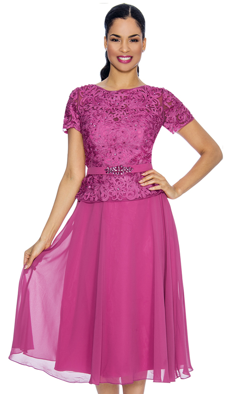 Annabelle 8626-RO ( 1pc Short Sleeve Pleated Tulle Special Occasion Dress With Lace Bodice )