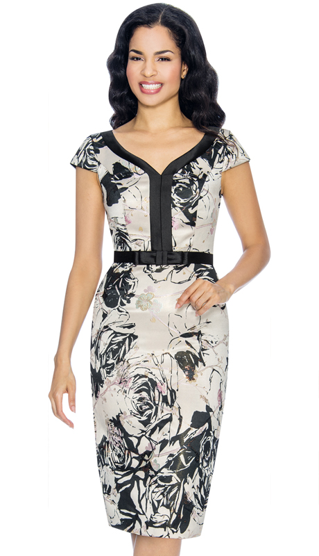 Annabelle 8678-PR ( 1pc Sweetheart Neckline Floral Print Capsleeve Special Occasion Dress )