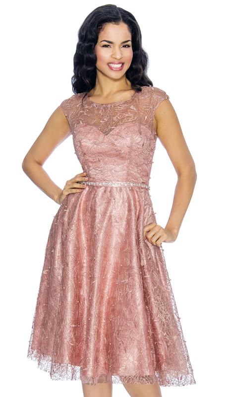 Annabelle 8662-MA ( 1pc Cap Sleeve Pleated Special Occasion Dress With Lace Design )