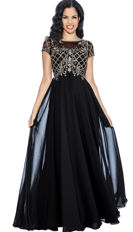 Annabelle 8615 ( 1pc Evening Gown With Sequined Embellishments For The Mother Of The Bride )