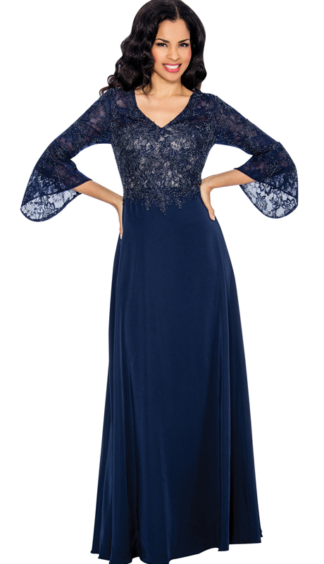 Annabelle 8613 ( 1pc Bell-Sleeve Beaded Evening Gown For The Mother Of The Bride )