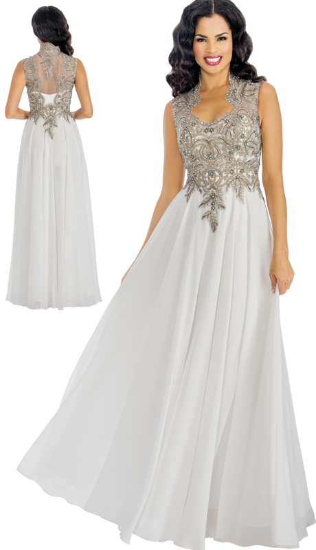 Annabelle 8599 ( 1pc Embellished Lace And Chiffon Illusion Trumpet Gown For The Bride )