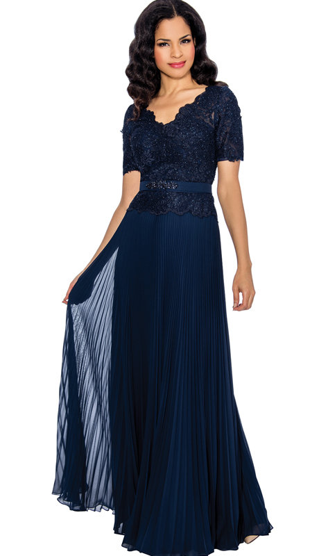 Annabelle 8595 ( 1pc Beaded Lace And Chiffon Pleated Evening Gown For The Mother Of The Bride )