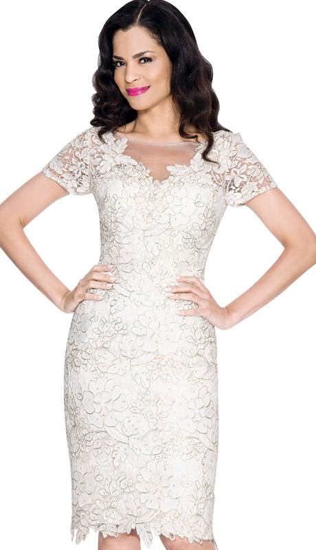 Annabelle 8554 ( 1pc Floral Lace Cocktail Dress For Special Occasion )