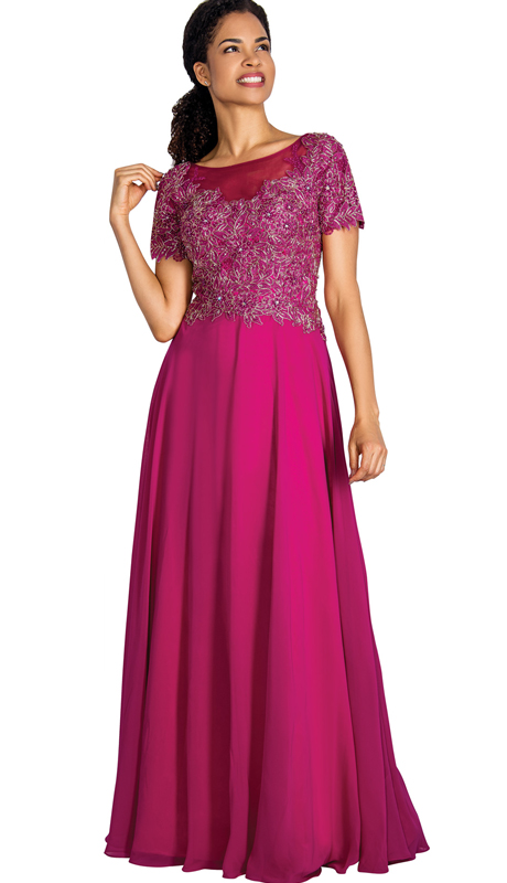 Annabelle 8550 ( 1pc Beaded Lace And Chiffon Pleated Evening Gown For The Mother Of The Bride )