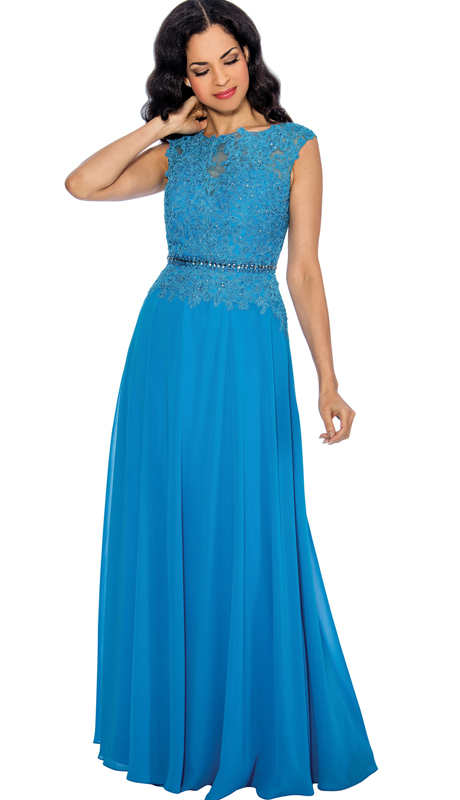 Annabelle 8541 ( 1pc Beaded Lace And Chiffon Belted Gown For Special Occasion )