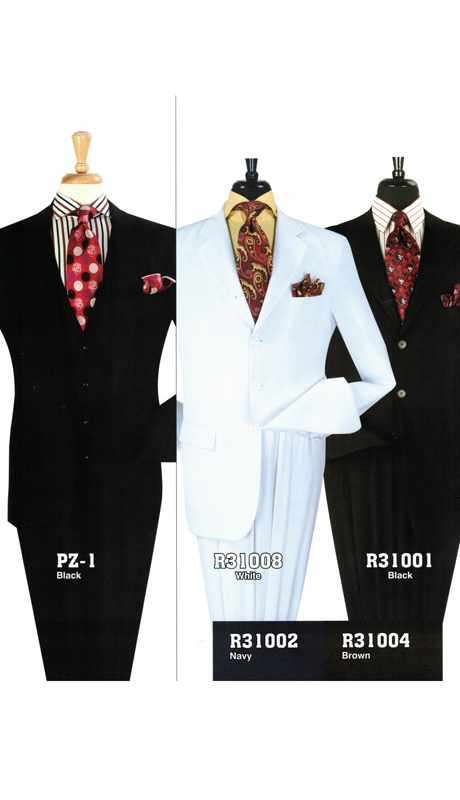 Iconic PZ-1 ( 2pc Three Button High Fashion Suit, Super 130's )