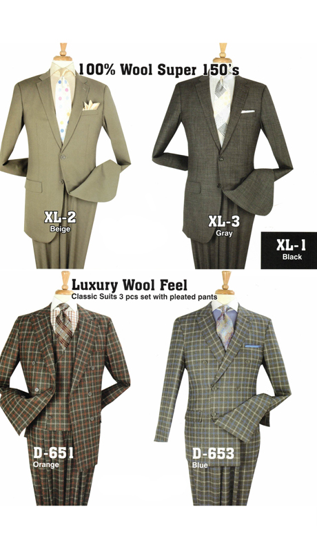 Iconic XL-2 ( 2pc 100% Wool X-Long Suits, Super 150's )