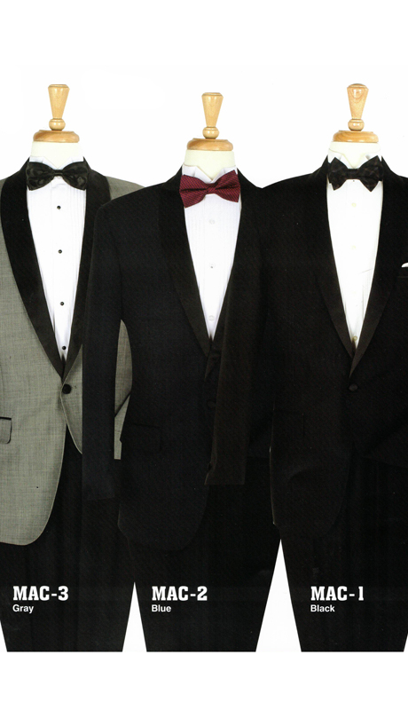 Iconic MAC-3 ( 2pc Tuxedo With Flat Front, Satin On Side Pants )