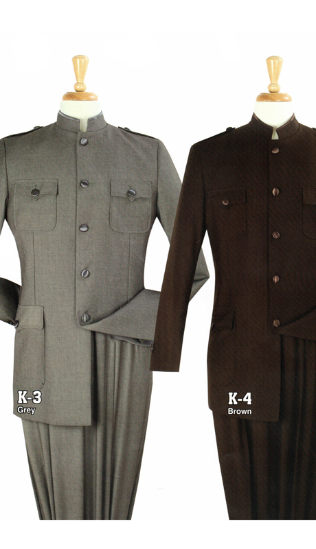 Iconic K-3 ( 2pc Nine Buttons Nehru Style With Semi Wide Leg Pants )