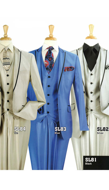 Iconic SL84 ( 3pc Luxury Mens Suit, Super 130's )