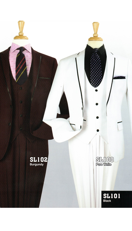 Iconic SL102 ( 3pc Luxury Mens Suit, Super 130's )