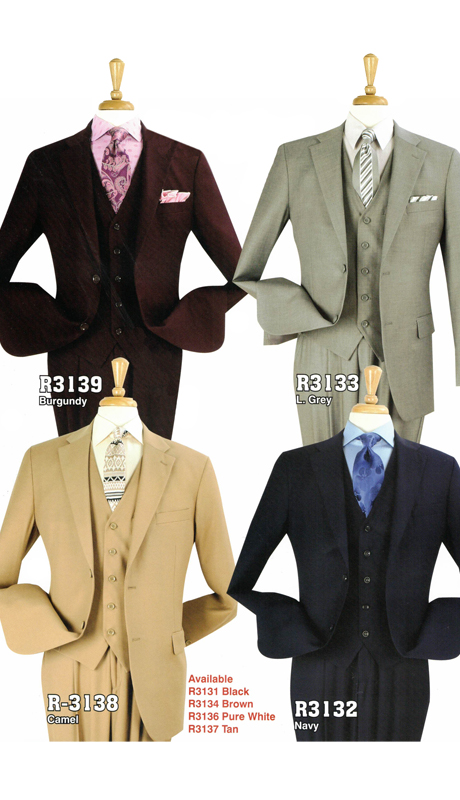 Iconic R3139 ( 3pc Classic Fit Suit With Vest )