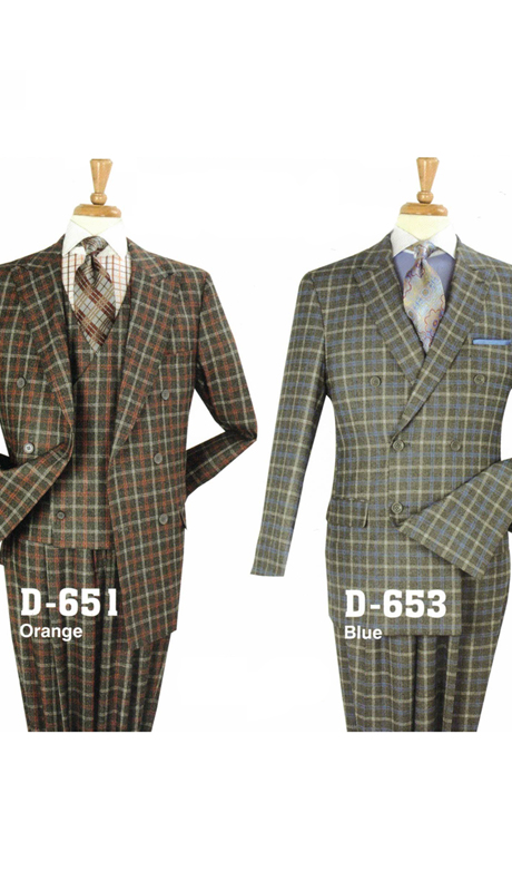 Iconic D-651 ( 3pc Classic Suit With Pleated Pants, Super 150's )