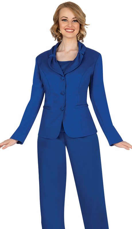 Aussie Austine 836-RB ( 4pc Gabardine Ladies Wardrober Set Includes Jacket, Cami, Skirt And Pants )