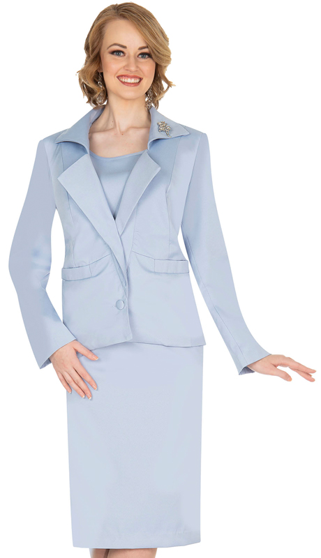 Aussie Austine 833-LB ( 4pc Gabardine Womens Wardrober Set Includes Jacket, Cami, Skirt And Pants )