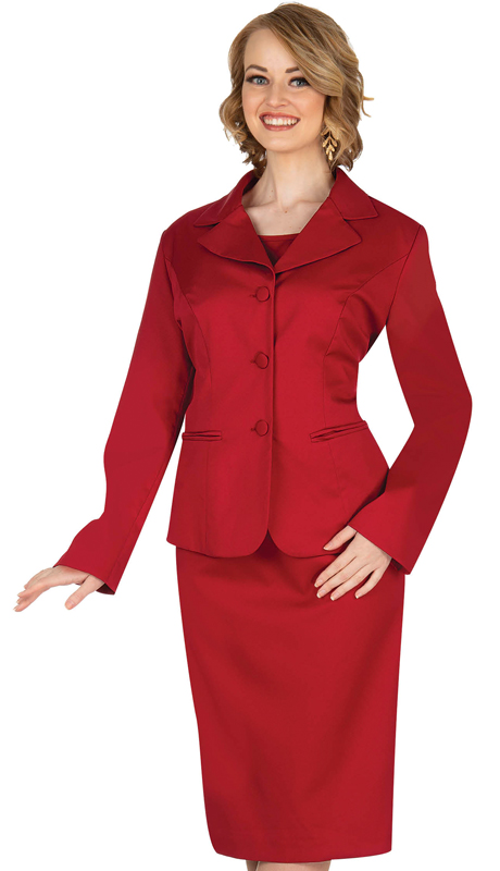 Aussie Austine 844-DR ( 4pc Gabardine Womens Wardrober Set Includes Jacket, Cami, Skirt And Pants )
