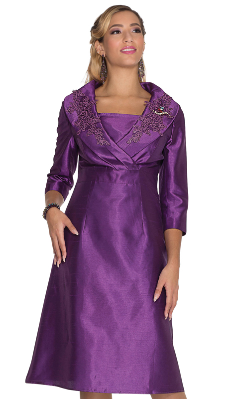 Aussie Austine 1030-PU ( 1pc Satin Womens Church Dress )