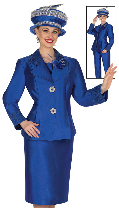 Aussie Austine 5124-RB ( 4pc Satin Ladies Wardrober Set Includes Jacket, Cami, Skirt And Pants )